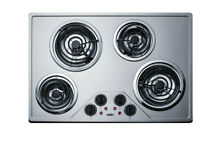 Summit CR430SS  30  Wide ADA Compliant Built In Electric Cooktop   Stainless