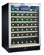 Danby DWC508  24  Wide 50 Bottle Capacity Free Standing Wine Cooler with LED