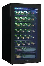 Danby DWC032A2  18  Wide 36 Bottle Capacity Free Standing Wine Cooler with LED