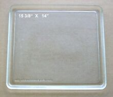 Vintage Recycled Microwave Glass Tray 15 3 8  X 14