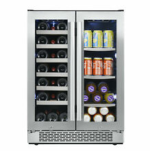 Avallon AWBC241GGFD  24  Wide 21 Bottle and 60 Can Capacity Built In Wine Cooler