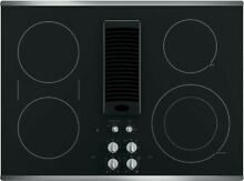 New  GE Profile PP9830SJSS 30  Electric 4 Burner Smoothtop Downdraft Cooktop