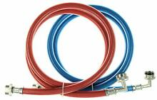 Triple Layer Stainless Steel Washing Machine Hoses with 90 degree elbow   5 Ft