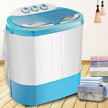 9 9LBS Mini Portable Top Load Washing Machine Compact Twin Tub Laundry Washer
