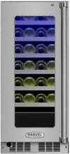 Marvel MP15WS4L  15  Wide 24 Bottle Built In Single Zone Wine Cooler with LED