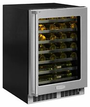 Marvel MP24WS5R  24  Wide 48 Bottle Built In Single Zone Wine Cooler with LED