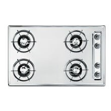 Summit ZNL05P  30  Wide Gas Cooktop   Chrome