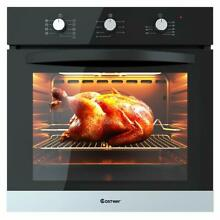 COSTWAY 24  Built In Single Wall Oven Electric 2 5 Cu  Ft  Capacity Tempered