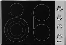Viking Professional 5 Series 30 Inch SS Electric Radiant Cooktop VECU5304BSB