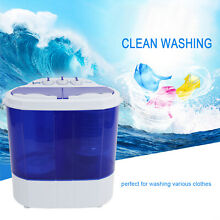 Portable Mini Semi Automatic Washing Machine Compact Spin Dryer RV Dorm Laundry