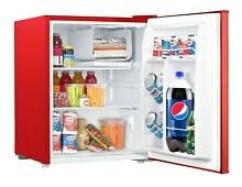 Galanz 2 7 Cu Ft Stainless Steel Single Door Mini Fridge RED