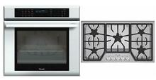 Thermador MasterPiece Series SS Cooktop   Single Oven MED301JS   SGS305FS