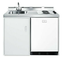 Summit C48EL White Stainless Steel 48  Combo Kitchen