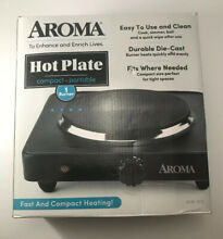 Aroma Housewares AHP303   CHP303 Single Hot Plate Black High quality  Brand New