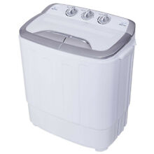 Twin Tub Dryer Washing Machine 8 lbs Compact Lightweight Portable Energy Saving