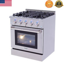 30  Gas Hob Cooktop 5 Burners Stove Kitchen NG LPG Electric Oven Stainless Steel