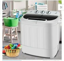ZENY  13lbs Capacity Compact Mini Twin Tub Washing Machine