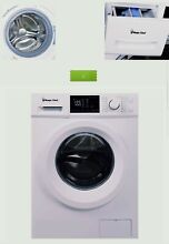 24 inch Front Load Washer  2 7 Cu Ft  Withe  Led Display  16 Wash Cycles  NEW