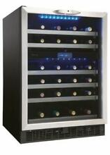 Danby DWC518 24 W 51 Bottle Capacity Built In Wine Cooler   Stainless Steel