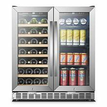 30 Inch Wide Sinoartizan Wine and Drink Fridge Cooler  33 Bottles and 70 Cans