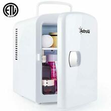 AstroAI Mini Fridge 4 Liter 6 Can AC DC Portable Thermoelectric Cooler White