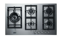 Summit GCJ536 36 W 5 Burner Gas Cooktop   Stainless Steel