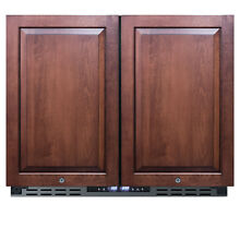 Summit FFRF36ADA 36 W 5 8 Cu  Ft  Capacity Side By Side   Panel Ready