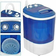 Portable Washing Machine W Spin Dry For Small Space RV Camp Apartment Travel