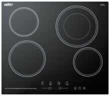 Summit CR4B23T 24 W Built In Electronic Cooktop   Black