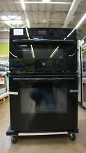 GE 27  Electric Double Wall Microwave Oven Combination   JK3800DHBB
