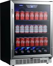EdgeStar CBR1502SG 24 W 142 Can Built In Beverage Cooler   Stainless Steel