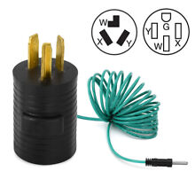 Dryer Adapter Cord 4 Prong Plug to 3 Wire Receptacle 14 30P To 10 30R 125V 250V