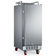 EdgeStar BR1500OD 15 W Outdoor Kegerator Conversion Refrigerator   Stainless