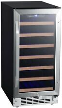 EdgeStar CWR302SZ 15 W 30 Bottle Built In Single Zone Wine Cooler   Stainless