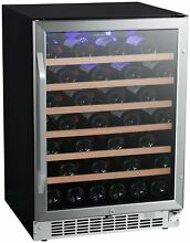 EdgeStar CWR532SZ 24 W 53 Bottle Built In Single Zone Wine Cooler   Stainless
