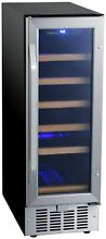 EdgeStar CWR182SZ 12 W 18 Bottle Built In Single Zone Wine Cooler   Stainless