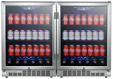 EdgeStar CBR1502SGDUAL 47 W 284 Can Built In Side by Side   Stainless Steel