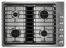 Jenn Air 30  Euro Style JX3 Stainless Steel Gas Downdraft Cooktop JGD3430GS
