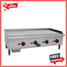 SABA 48 in Commercial Griddle Gas Cooktop in Stainless Steel with 4 Burners