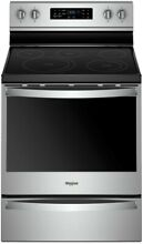 Brand New  Whirlpool WFE775H0HZ 30  Stainless Electric Convection Range