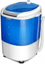 Mini Washing Machine Compact Portable With Spin Dryer Durable Energy Saving Blue