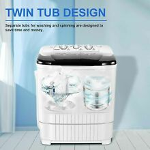 Mini Washing Machine Compact Twin Tub Washer With Dryer 13 2 LBS Dorm Apartment