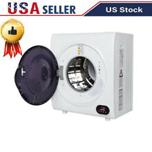 Compact Portable Household Clothes Dryer 2 6CUFT Drum Dryer W  LED Display 110V