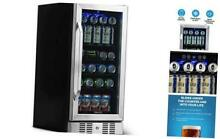 Beverage Refrigerator Cooler with 96 Can Capacity   Mini Bar Beer Fridge with