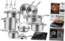 Bundle 9100MC 1800W Portable Induction Cooktop  Induction Burner with 17PC