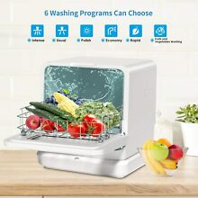 Portable Countertop Dishwasher Compact Dishwashers Fruit Vegetables Dishes 7 5L