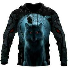 Fenrir Viking Wolf And Moon 3D Hoodie Mothers Day Gift Custom Printed S 5XL