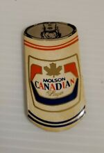 Vintage Molson Canadian beer can Refrigerator Magnet 2  tall