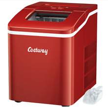 Costway Portable Ice Maker Machine Countertop 26Lbs 24H Self cleaning w  Scoop R