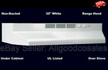 Over Stove Range Hood  White  30   Non Ducted  Exhaust Fan Under Kitchen Cabinet
